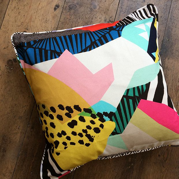 Landscape cushion by Kitty McCall