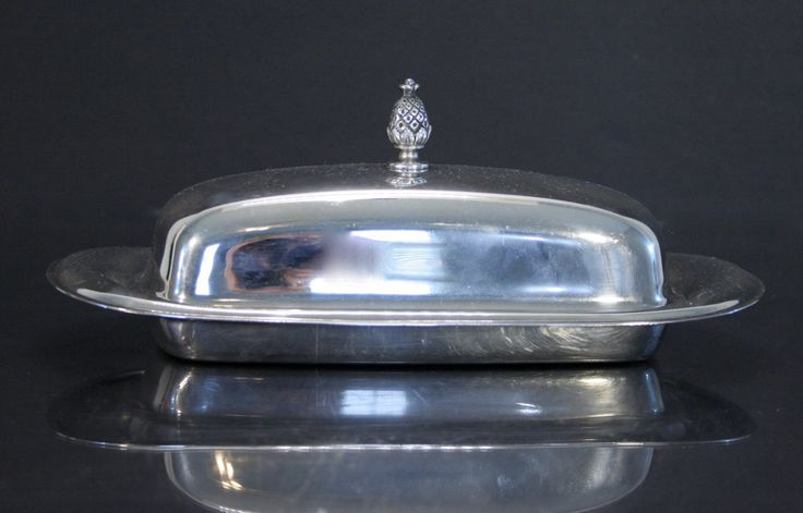New to Revendeur on Etsy: Silver-plate Butter Dish with Glass Insert -- Wm Rogers Silver -- Midcentury Butter Dish -- Wedding Gift -- GW0500 (15.00 USD)