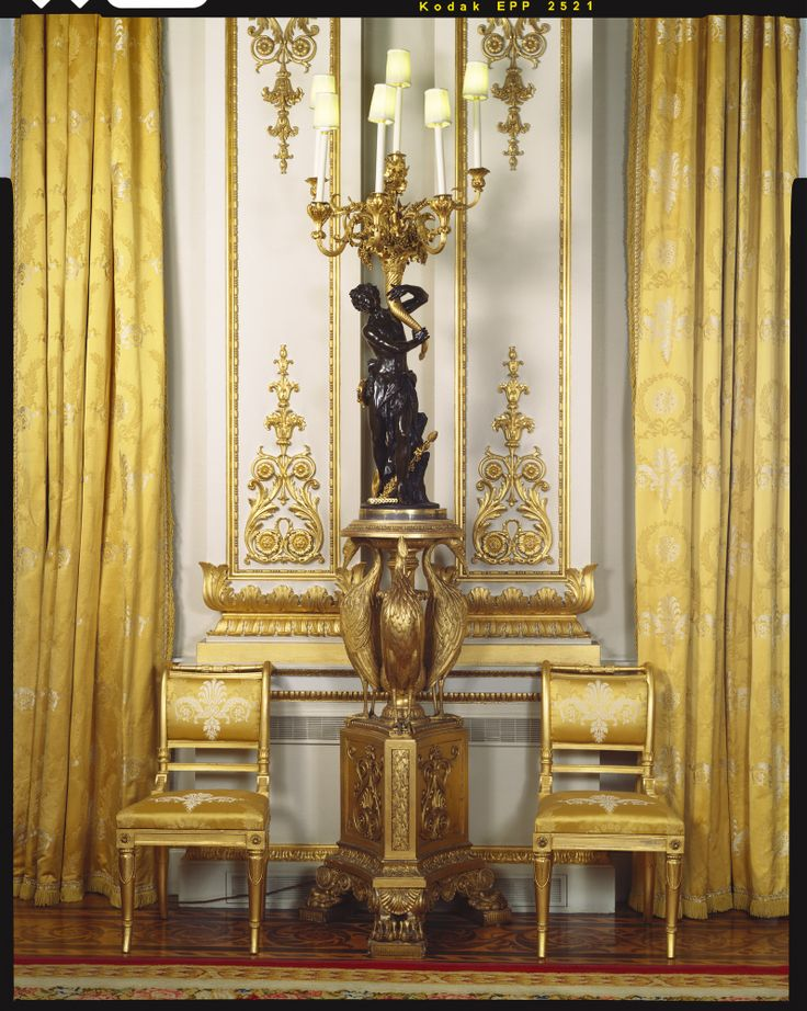 The Royal Collection: Set of carved tripod stands Creator: Tatham, Bailey & Sanders (furniture maker) Creation Date: 1811 English  Materials: Carved and gilded wood