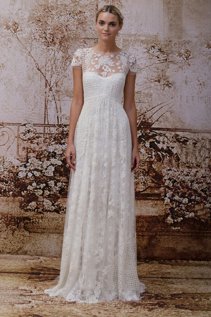 I love the 'casualness' of this dress! Monique Lhuillier's Secret Garden Wedding Dress Collection