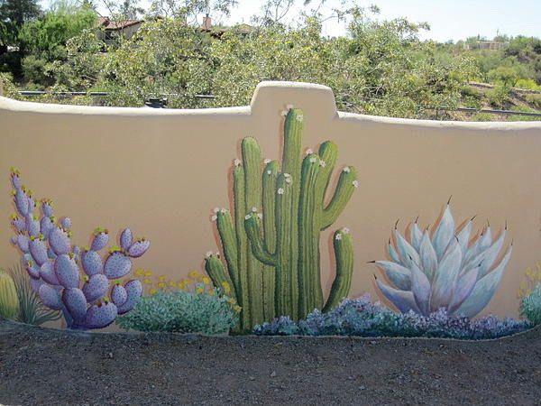 Outdoor Cactus Wall Murals Cactus Wall Murals for Your Back Yard Garden