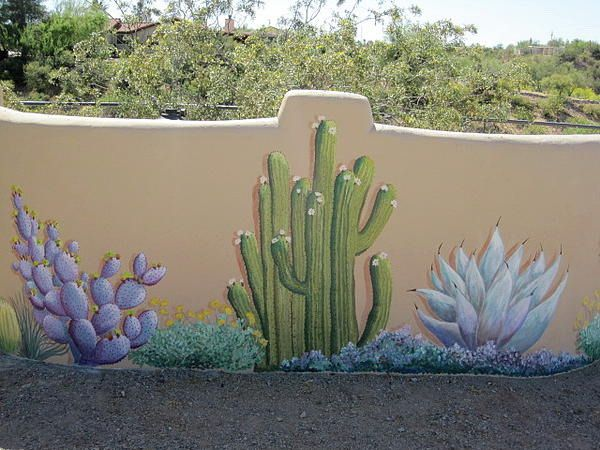 Outdoor Cactus Wall Murals Cactus Wall Murals For Your