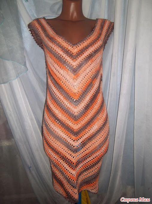 Как связать платье по диагонали крючком Описание схема вязания — ПлатьяТут: Вязаные Крючком Платья, Юбки и Болеро