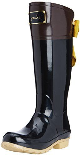 $156, Black Rain Boots: Joules Evedon Rain Boot. Sold by Amazon.com. Click for more info: https://lookastic.com/women/shop_items/146645/redirect