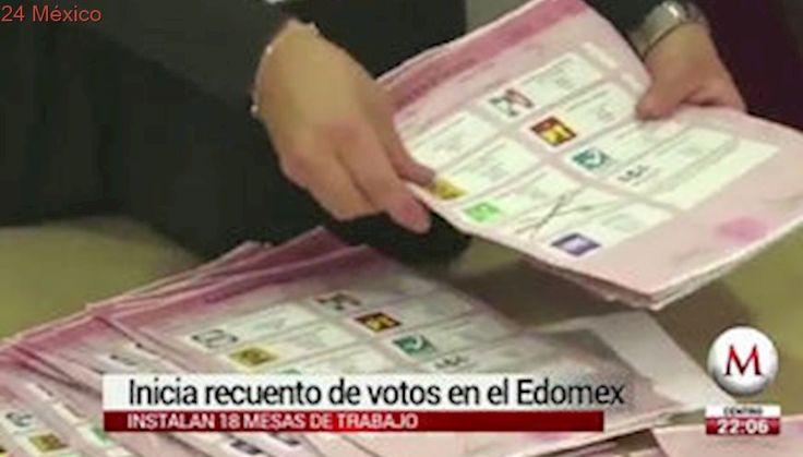 Inicia recuento de votos en 556 casillas del Edomex