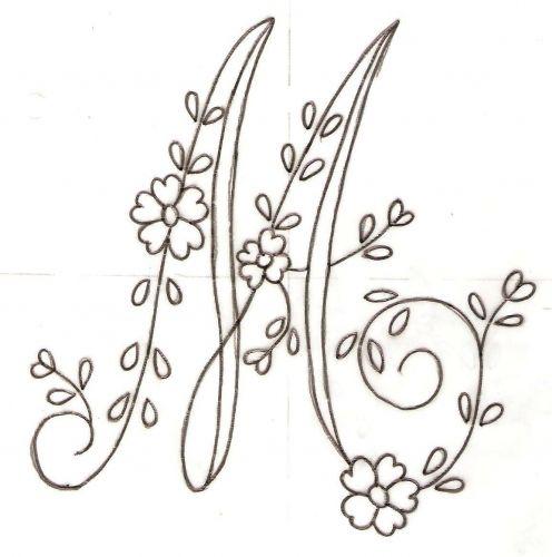 Dibujos de letras para bordar a mano - Imagui