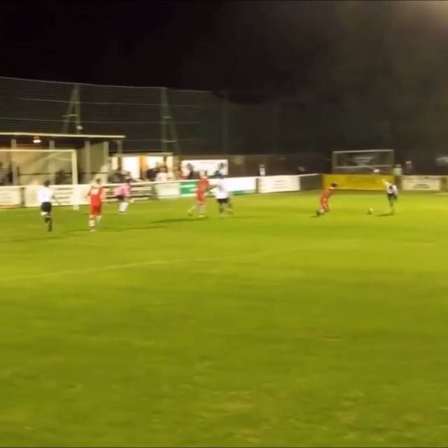 We feel sorry for him, but we can't stop watching! (Faversham Town)  Credit Grass Root Goals
