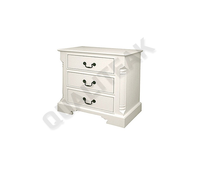 Please contacts us for asking detail about Georgian White Wide Bedside