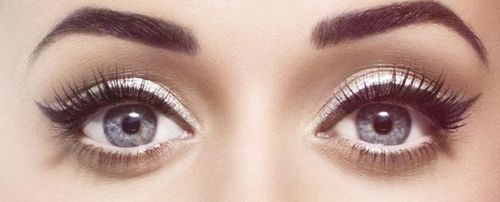 playing up the white eyeshadow and white liner on the water line, with cat eyes makes them POP!