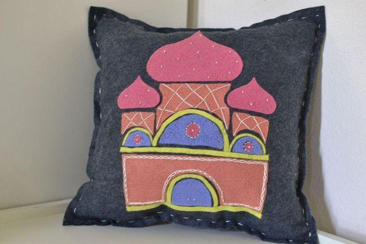 House of Prayer Folk Art Pillow | Craftsy