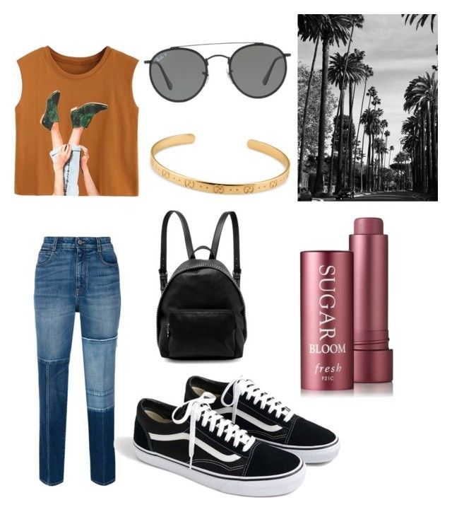 """""""July day 🌞"""" by stacyk01 on Polyvore featuring мода, STELLA McCARTNEY, J.Crew, Ray-Ban и Gucci"""