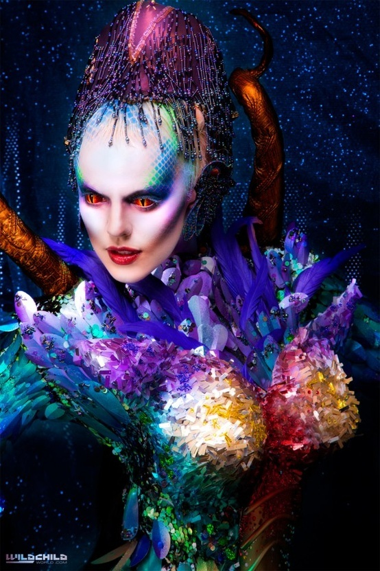 alien #fantasy makeup