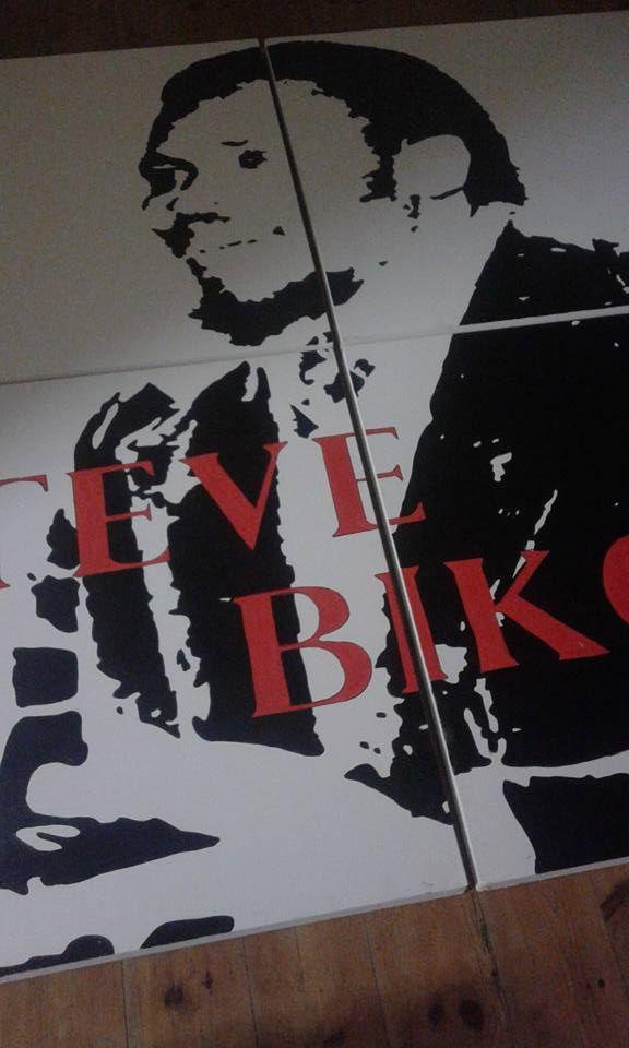 Painting of Steve Biko. Stace Scallan