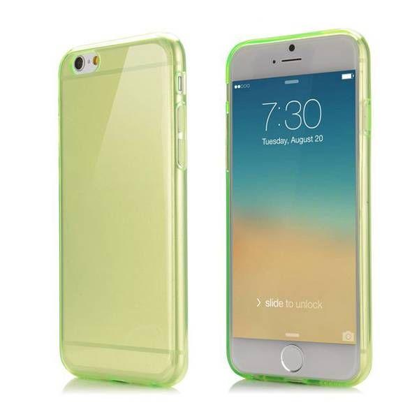 Groen / transparant TPU hoesje voor iPhone 6 Plus