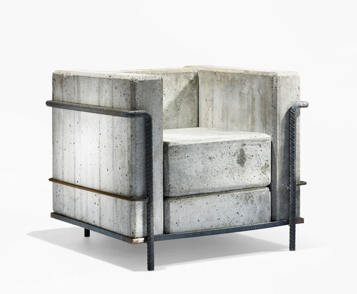 Awesome Concrete furniture: ideas for home decor, Dommage a Corbu armchair, Stefan Zwicky |