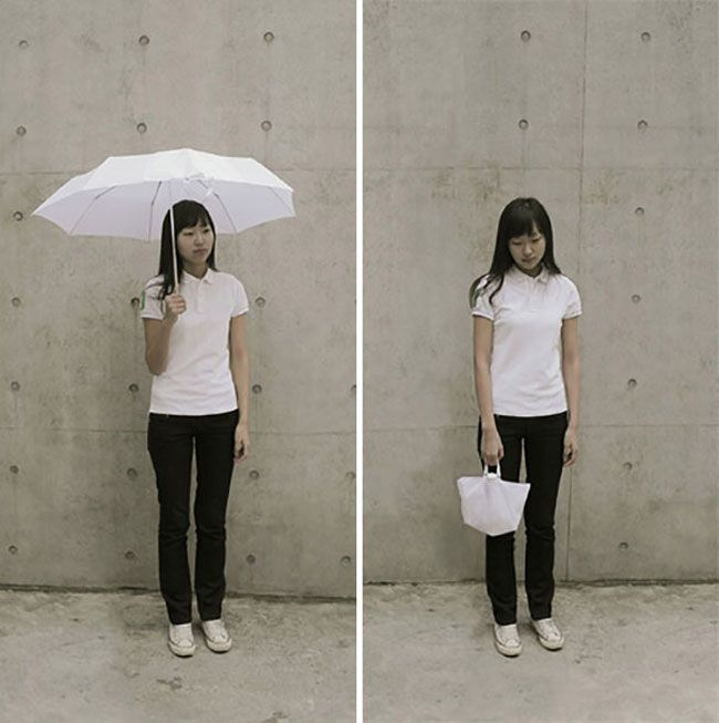 The Inside-Out Umbrella