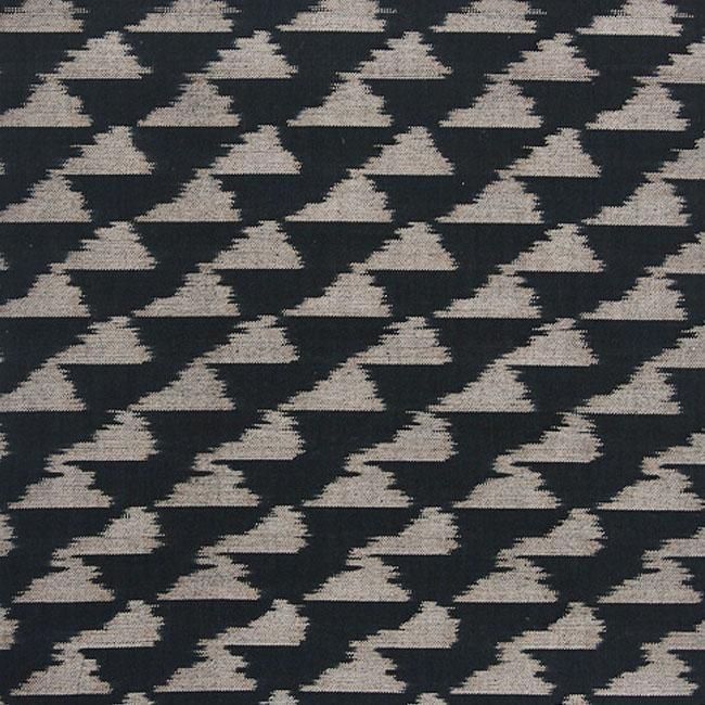 Tribal In Black Hand Weaving Black Upholstery Fabric Fabric