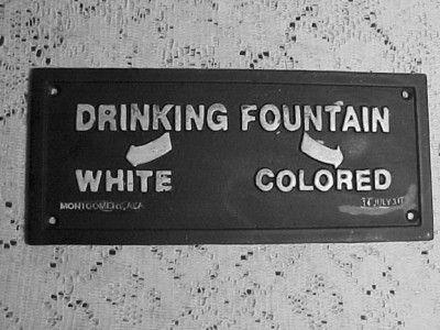 Segregation in America.