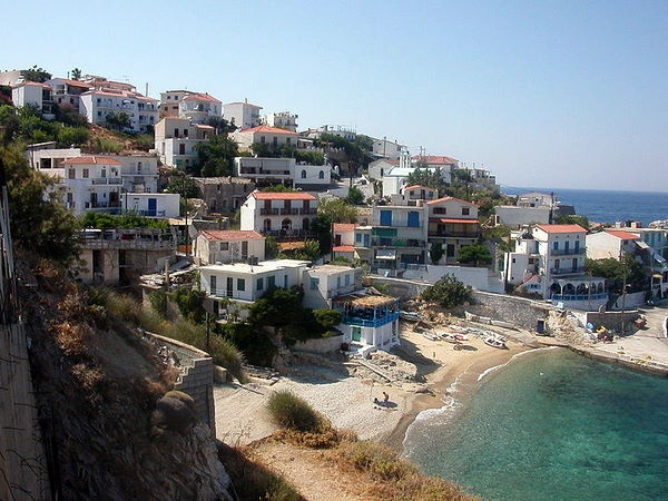 Ikaria, Greece. Birthplace of the god of wine Dionysus