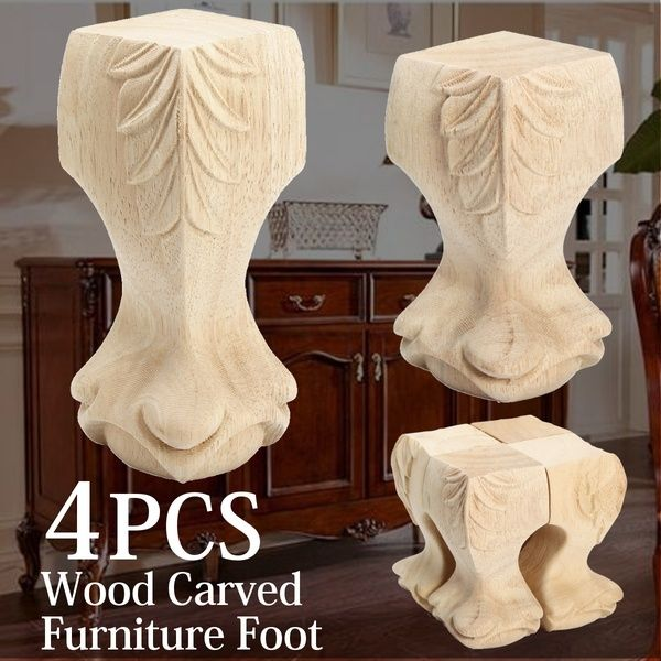 Solid Wood Carved Furniture Foot Legs