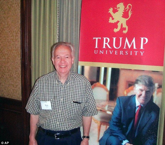 """Donald Trump's Trump University was never a university, operating without a NYSED license. The institution is now called, ahem, """"Trump Entrepreneur Initiative."""" Despite hints from Trump University instructors that Trump was """"going to be in town,"""" """"often drops by,"""" or """"might show up,"""" he never did. Matt Labash recounted in The Weekly Standard: """"At one seminar, attendees were told they'd get to have their picture taken with Trump. Instead, they ended up getting snapped with his cardboard…"""