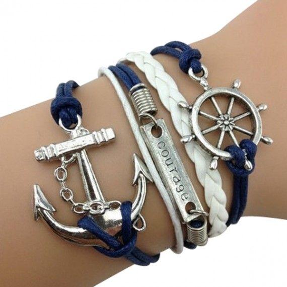 Navy Anchor Arm Party Bracelet