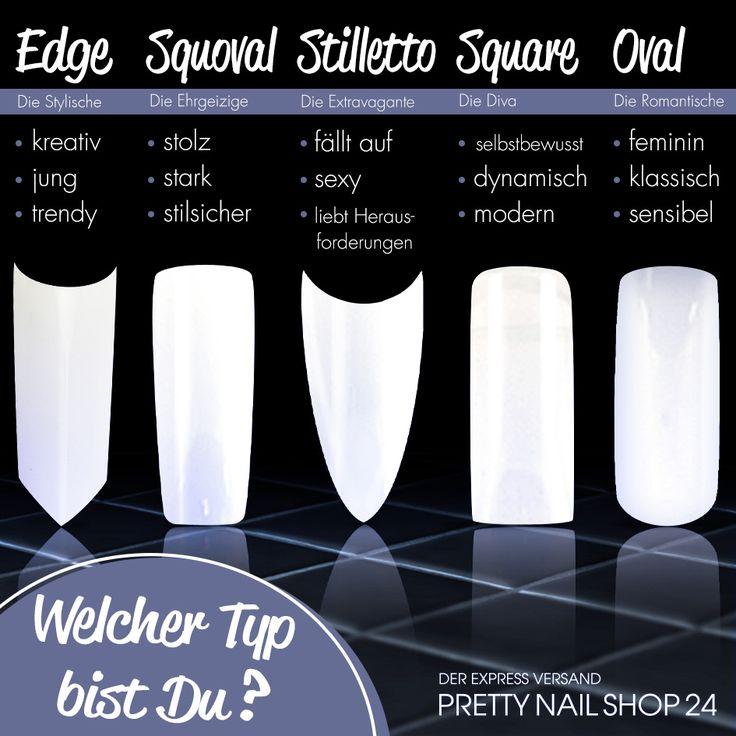 #tips #nails #modellage #naildesign Tipformen sagen viel über seinen Träger aus – welcher Typ bist Du?