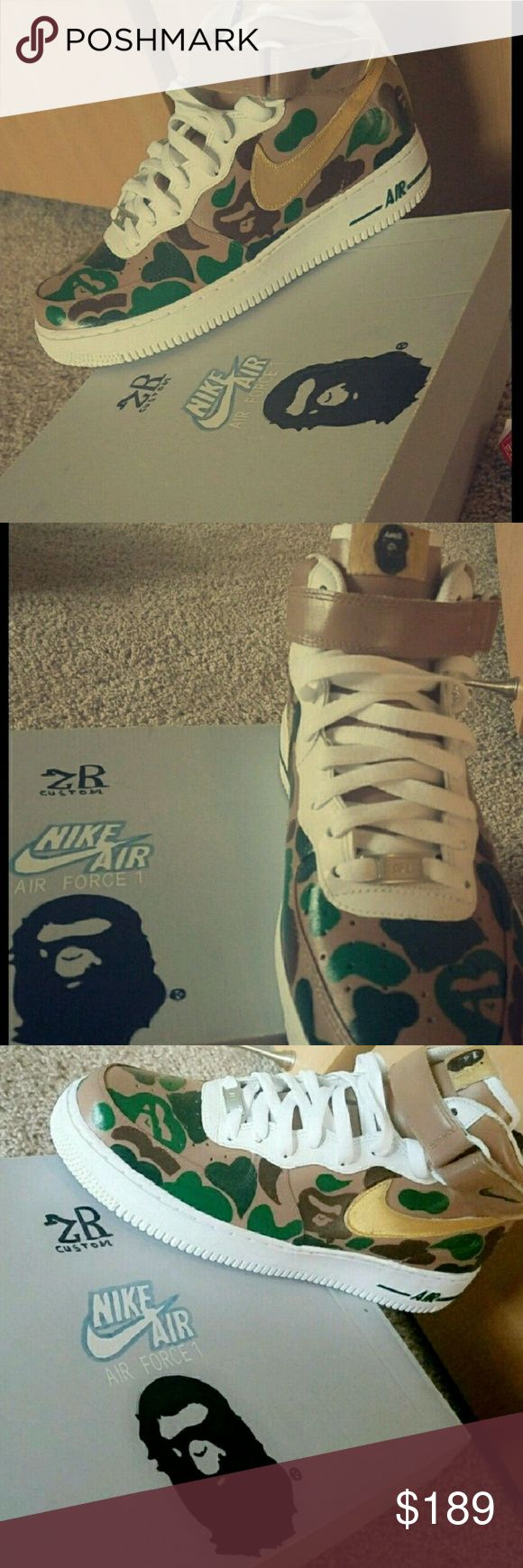 Bape air force one custom Brand new never used bape air force one custom Jordan Shoes Sneakers