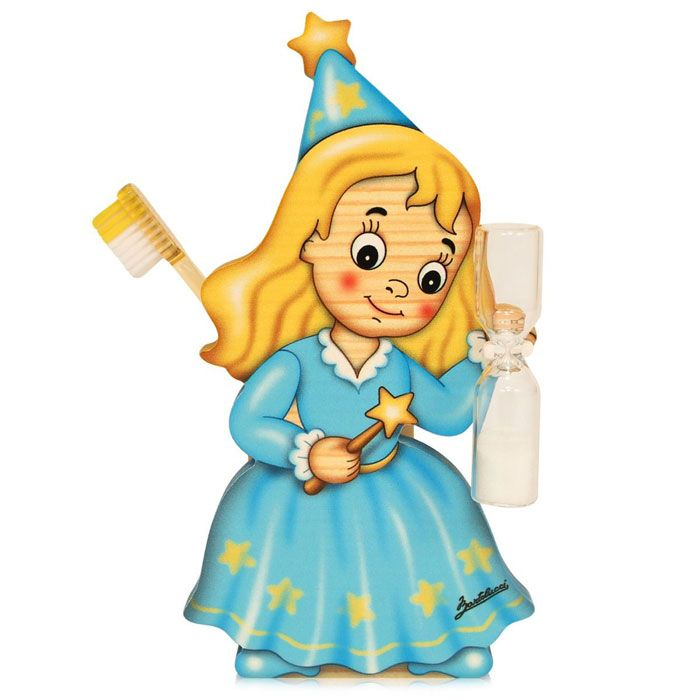 Fairy Toothbrush Holder With Timer | Made in Italy by Bartolucci
