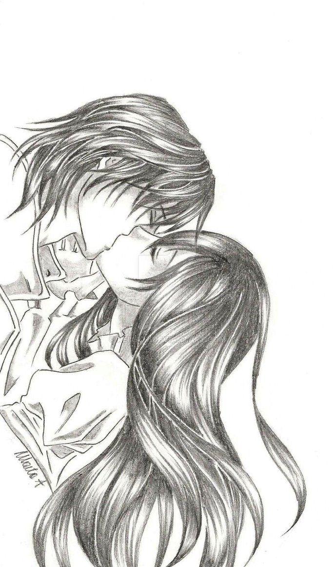 Yuki and Kaname kiss by Reika77.deviantart.com on @DeviantArt #vampire #vampireknight #kiss #love #kaname #kuran #yuki #couple
