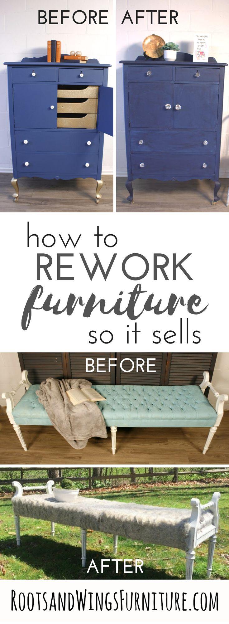 Re Work. Thrift Store FurnitureFurniture SaleRecycled FurnitureFurniture  IdeasPainting TipsPainting TechniquesRoots ...