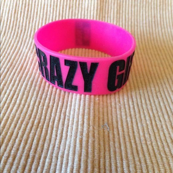 "Eli young band hot pink tour bracelet ""crazy girl"" Hot pink crazy girl wrist band from concert tour Jewelry Bracelets"