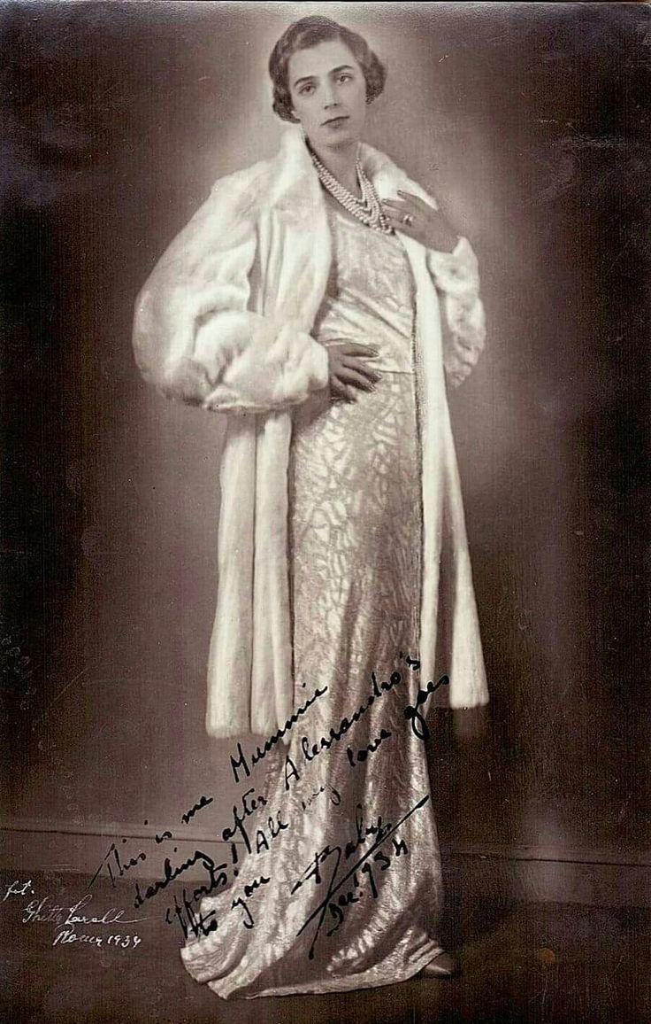 Beatriz de Borbon, Infanta of Spain, 1909-2002, Princess Alessandro Torlonia di Civitelli-Cesi, elder daughter of Alfonso XIII