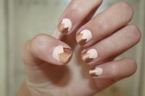 Gold-tipped: Nails Art, Beautiful Department, Fun Nails, Nails Combos, Gold Diggers, White Nails, Soft Pink Nails, Beautiful Blog, Gold Check