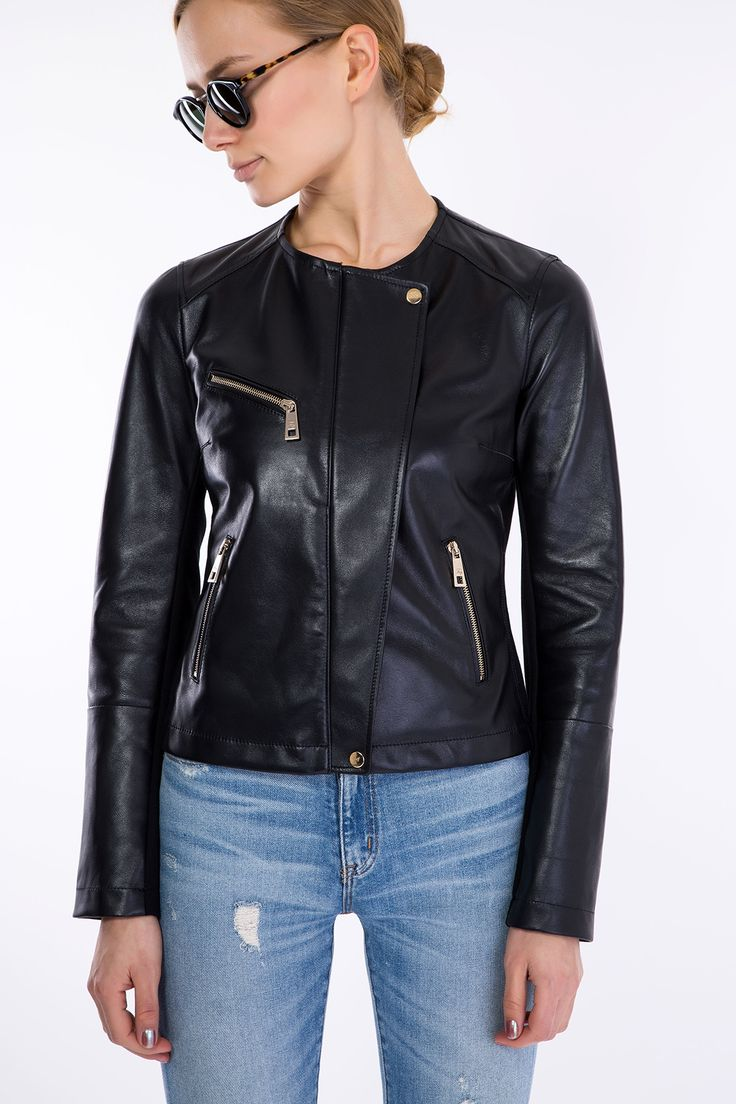 SHOP FAY BIKER JACKET > #manzetti #mymanzetti #fay #biker #leather #jacket #woman #style #fashion #forher #shoponline #shopping #rome