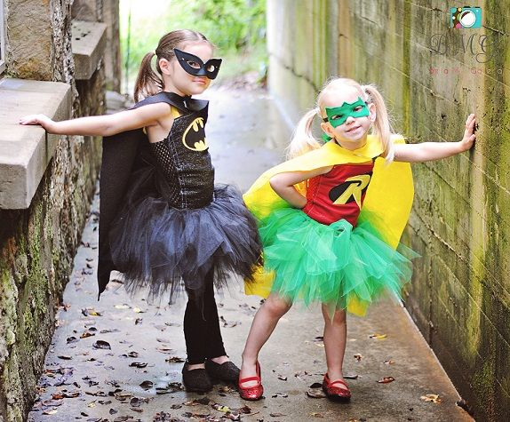 Batman Robin Halloween Tutu Costume Set - can we be this for Halloween instead of broken heart BFF's?