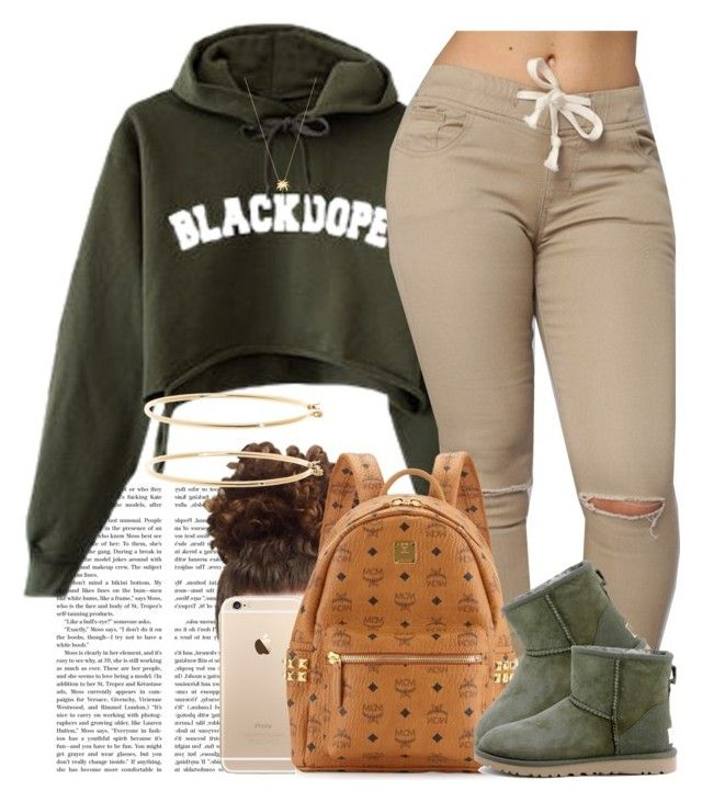 """BlackDope."" by livelifefreelyy ❤ liked on Polyvore featuring MCM, UGG Australia, Joolz by Martha Calvo and Brooks Brothers"