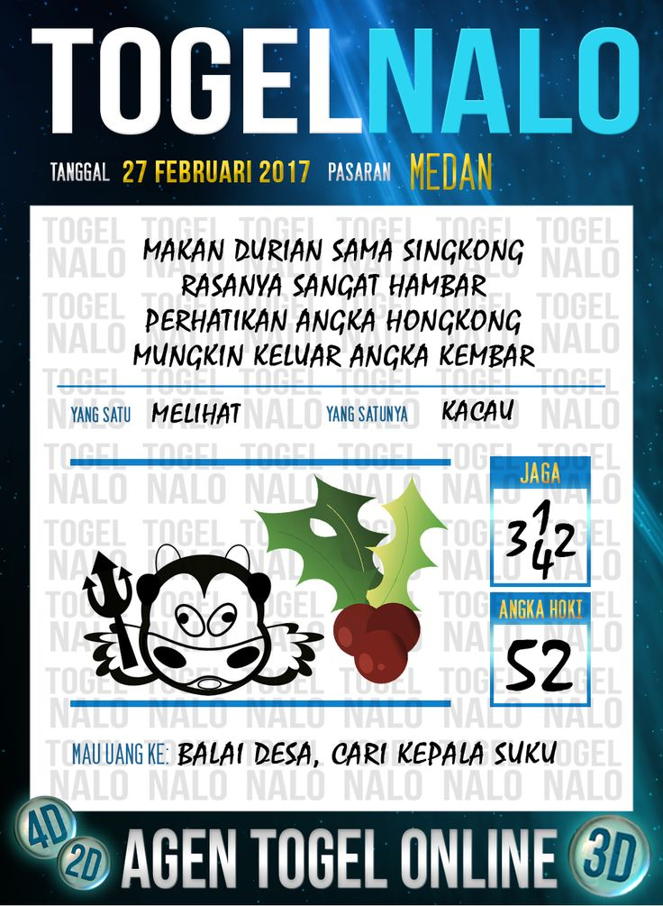 Lotre Taysen 4D Togel Wap Online Live Draw 4D TogelNalo Medan 27 Februari 2017