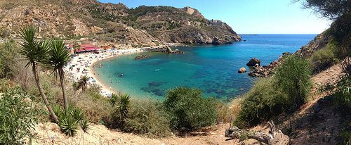 Cala Cortina, Cartagena Spain.En clase cantonal:bonita playa.