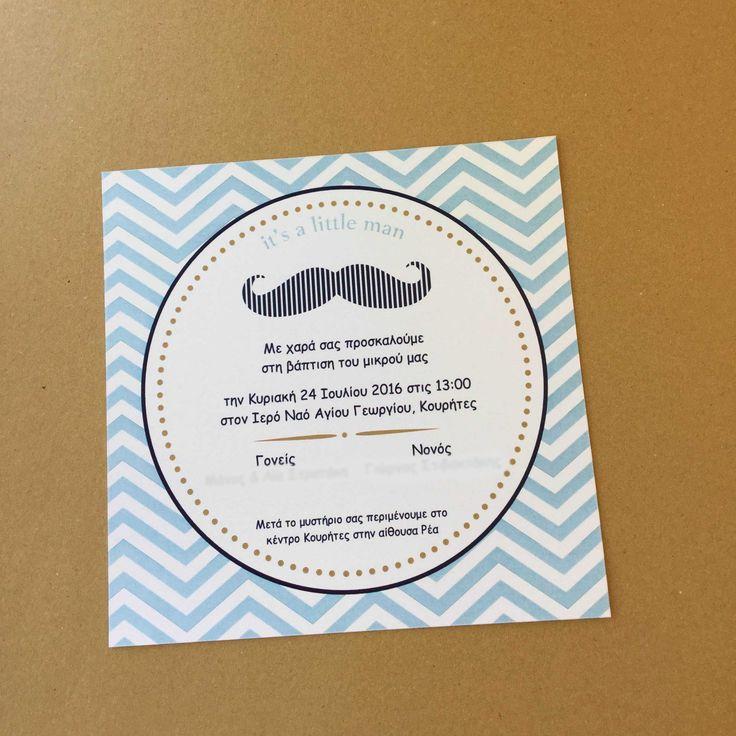 Πρόσκληση little man #littleman #moustache #invitation