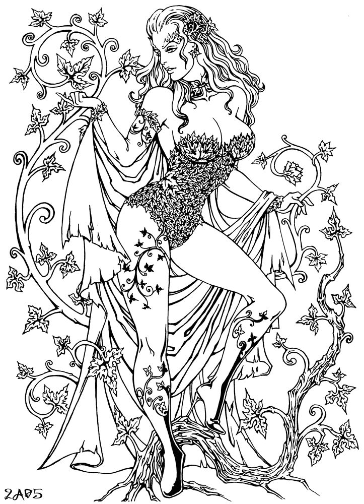 Poison Ivy Coloring Pages Adult