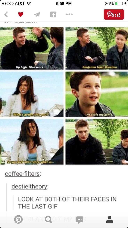 Haha. He is sooo dean's kid.