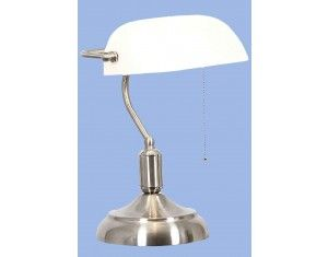 Bankers Lamp with pull switch also available in green glass and brass stand. Springlights Hillcrest and Kloof. For more info you're welcome to look at our website.