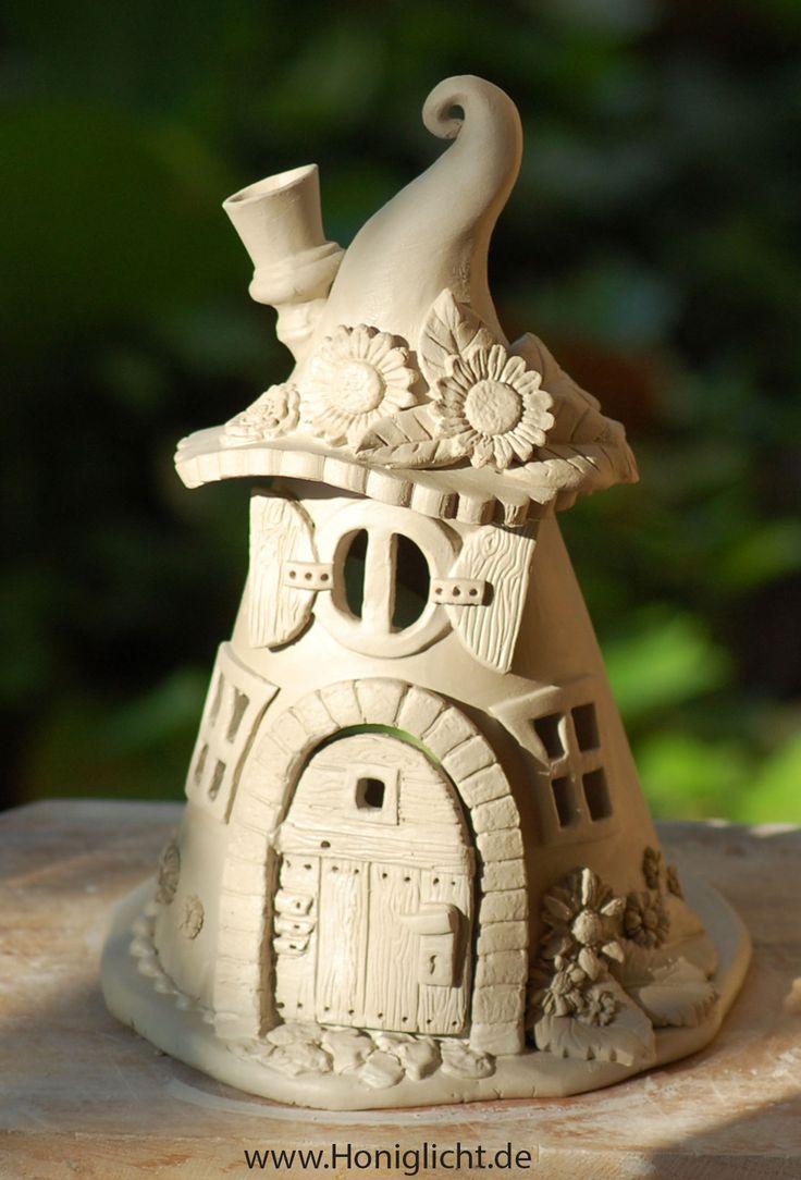 elfenhaus aus ton ungebrannt keramik pinterest keramik t pfern ideen und knetbeton. Black Bedroom Furniture Sets. Home Design Ideas