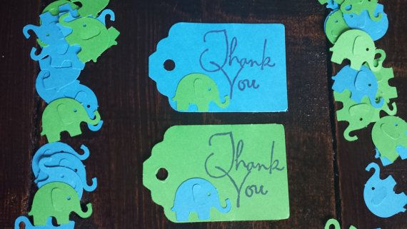 Bright blue and green Elephant themed by LittleFoxTreasureBox