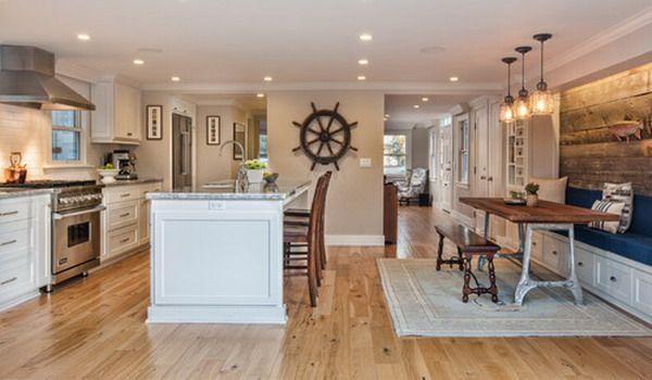 nautical kitchensnavy and yellow kitchens | ... Nautical Open Plan Kitchen Remodeling Nautical Theme Kitchen Decor