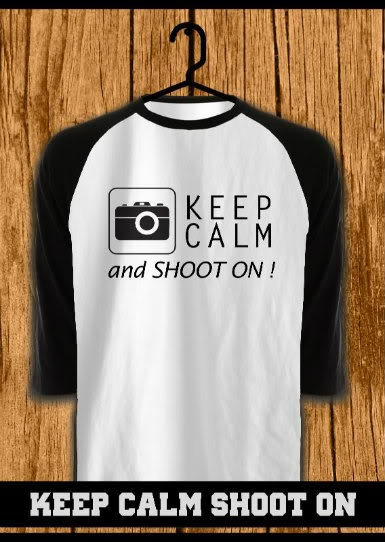 ourkios - Keep Calm Shooton Black Raglan