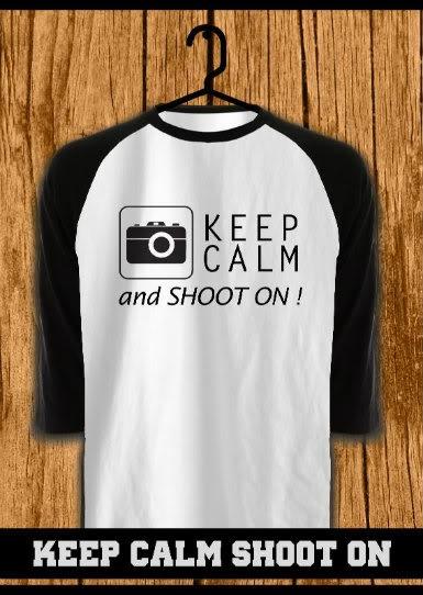 ourkios - Keep Calm Shooton Black Raglan