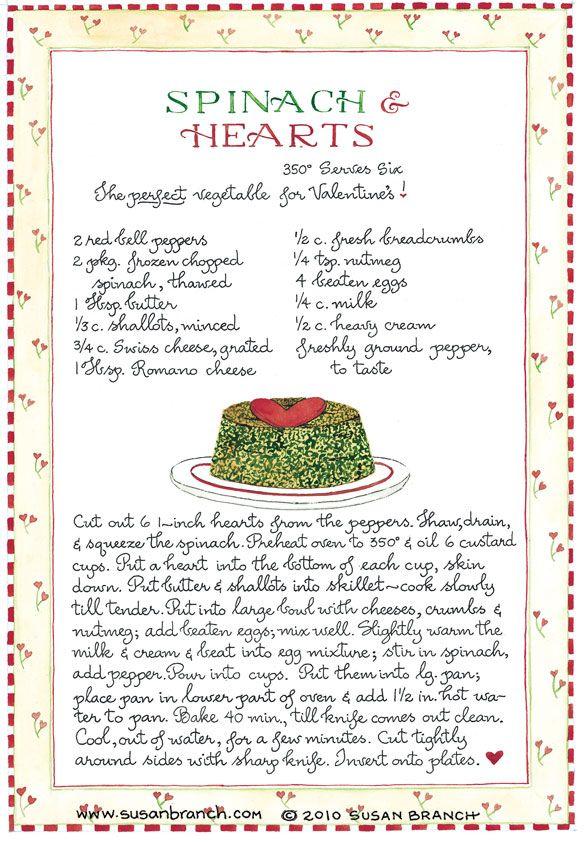 Spinach & Hearts ♥ Susan Branch