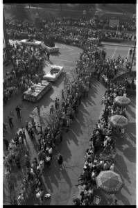 Boyd Hall float in Ohio University Homecoming Parade, 1963 :: Ohio University Archives